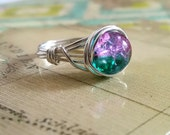 Galaxy Ring, Wire Wrapped Ring, Argentium Silver Jewelry, Nebula Ring