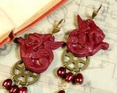 Firedragon, earrings