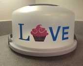 Cupcake Love Decal for cake carriers