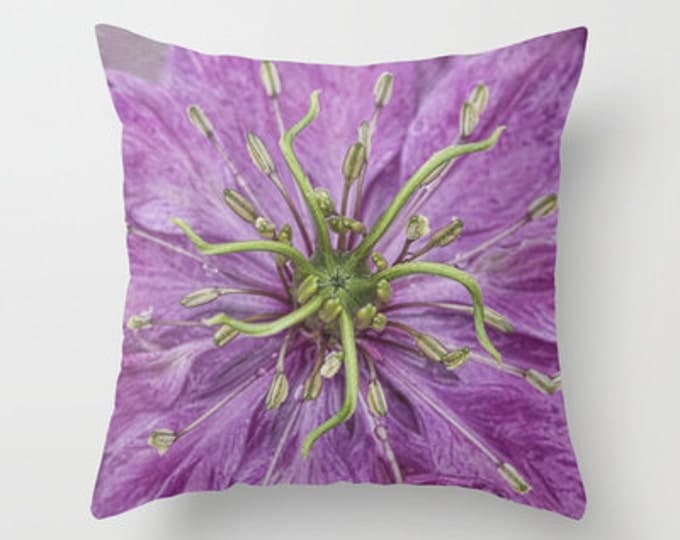 Love In The Mist Throw Pillow, Photo Pillow, Flower Pillow, Flower Photography, Photography