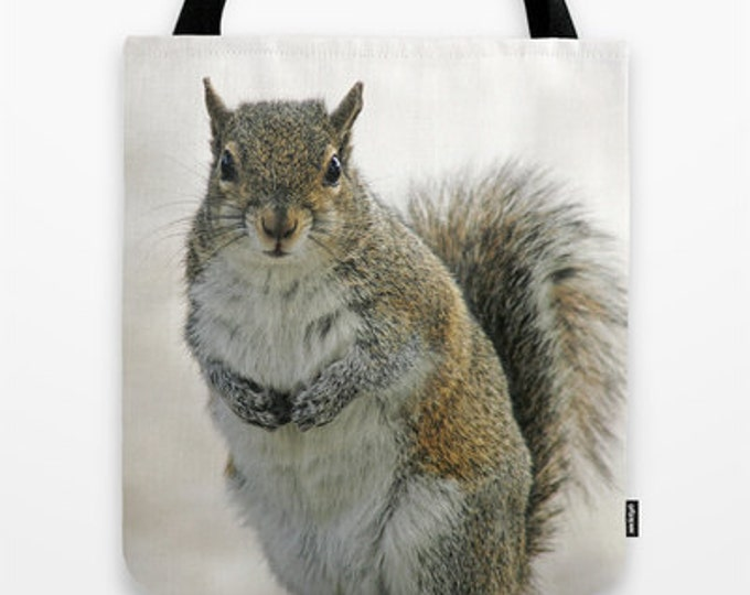 Gray Squirrel Photo Tote Bag, Tote Bag, Photo Tote, Photo Bag