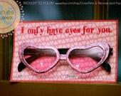 Valentine Printable PDF - Printable Party Supplies - Eyes for You Printable Valentines