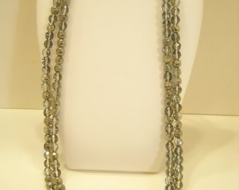 """Vintage 60"""" Metro 7 Faceted Crystal Necklace (8762**)"""