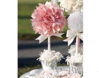 BABY SHOWER CENTERPIECE / Pink and gold first birthday centerpiece / First communion centerpieces / Bridal shower centerpieces / Baptism