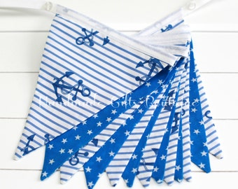 NAUTICAL Bunting/Banner, Baby/Children room, Beach house bunting, Baby Boy baby shower, Nursery decor, Gift for boys