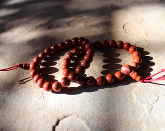 Red Jasper Mala/Power Bead Bracelet