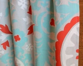 WINTER SALE ⋘ One Pair Window Treatments Curtains Drapery Panels 24W or 50W x 63, 84, 90, 96 or 108L Suzani Harmony shown