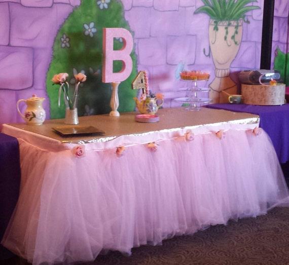 Sweets Table Custom Made Tutu Table Skirt Tulle Table