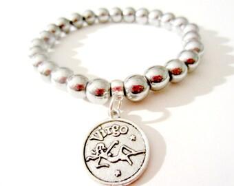 Virgo Bracelet. Zodiac Bracelet. Virgo Jewelry. Zodiac Jewelry. Virgo Constellation.