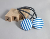 Children/girl/ everyday hair tie - fabric covered button hair tie