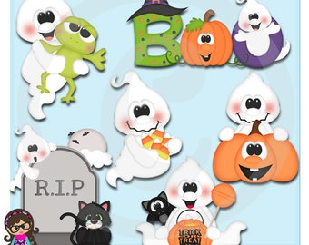 Halloween Boo Ghosts  Clip art  Clipart Graphics  Commercial Use