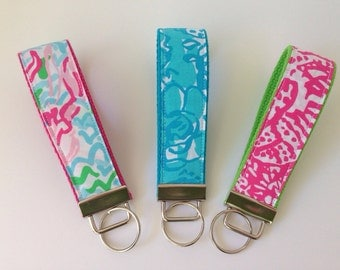 Lilly Pulitzer Fabric Key Fob Wristlet - Choose One