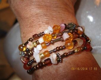 Beaded wrap around bracelet
