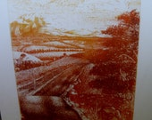 """Vintage Limited Edition Etching """"Winding Road"""" by Garee Soszynski Very Good Rare  Estate find"""