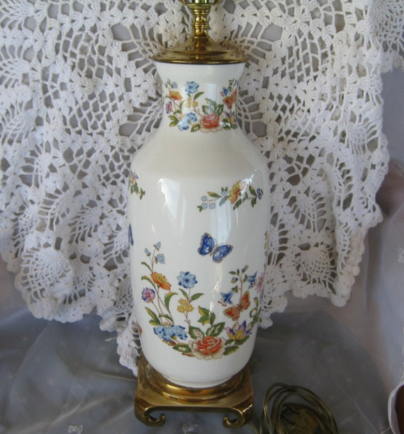 Aynsley Cottage Garden 24 Inch Lamp Discontinued By Chinagalore
