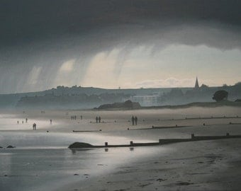 Rain over Alnmouth Beach - Limited Edition Print (Small)