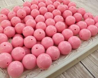 Pink 20mm chunky beads