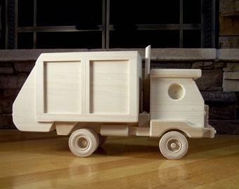 Wooden Garbage Truck Toy