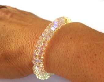 Swarovski Bracelet, Beaded Bracelet, Rondelle Bracelet, Sparkle Bracelet, Bling Bracelet