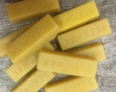 Natural Beeswax Block Set of 10 for crafting, candles, wax  10 oz. total in bars
