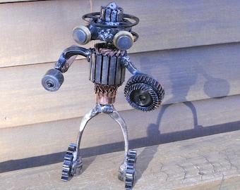 Steampunk Metal Robot Welded Art Found Objects