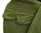 Hand Knit Cedar Leaf Scarf Shawl