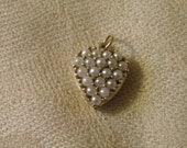 RESERVEDLC Beautiful 18K Gold Pearl Heart Pendant