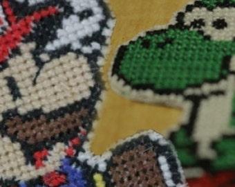 Super Mario & Yoshi Cross Stitch - PATTERN ONLY
