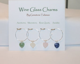 Sterling Silver and Gemstone Wine Markers