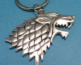 Wolfhead - A Keychain or Necklace - READY TO SHIP