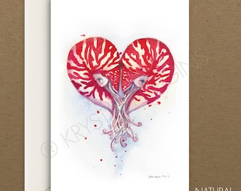Nautilus Nautical Hearts - Blank Inside - Mother's Day / Anniversary / Love