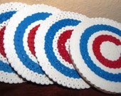 VALENTINESALE Chicago Cubs Perler Coasters with Cork Backing Set of 4