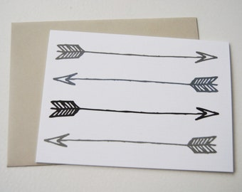 arrow greeting card // blank inside