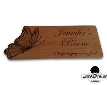 Personalized Children's Butterfly Room/Door Sign