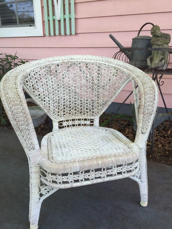 Antique wicker double cane back chair intricate detail early 1900 s