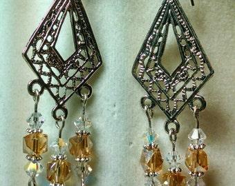 Amber Chandelier Earring
