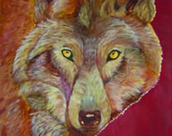 """Animal Wolf Art - """"Ginger"""""""