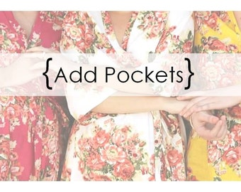 Add pockets to your robes