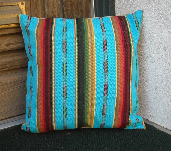 Southwestern Pillow Cover 18 x 18 custom sizes available.