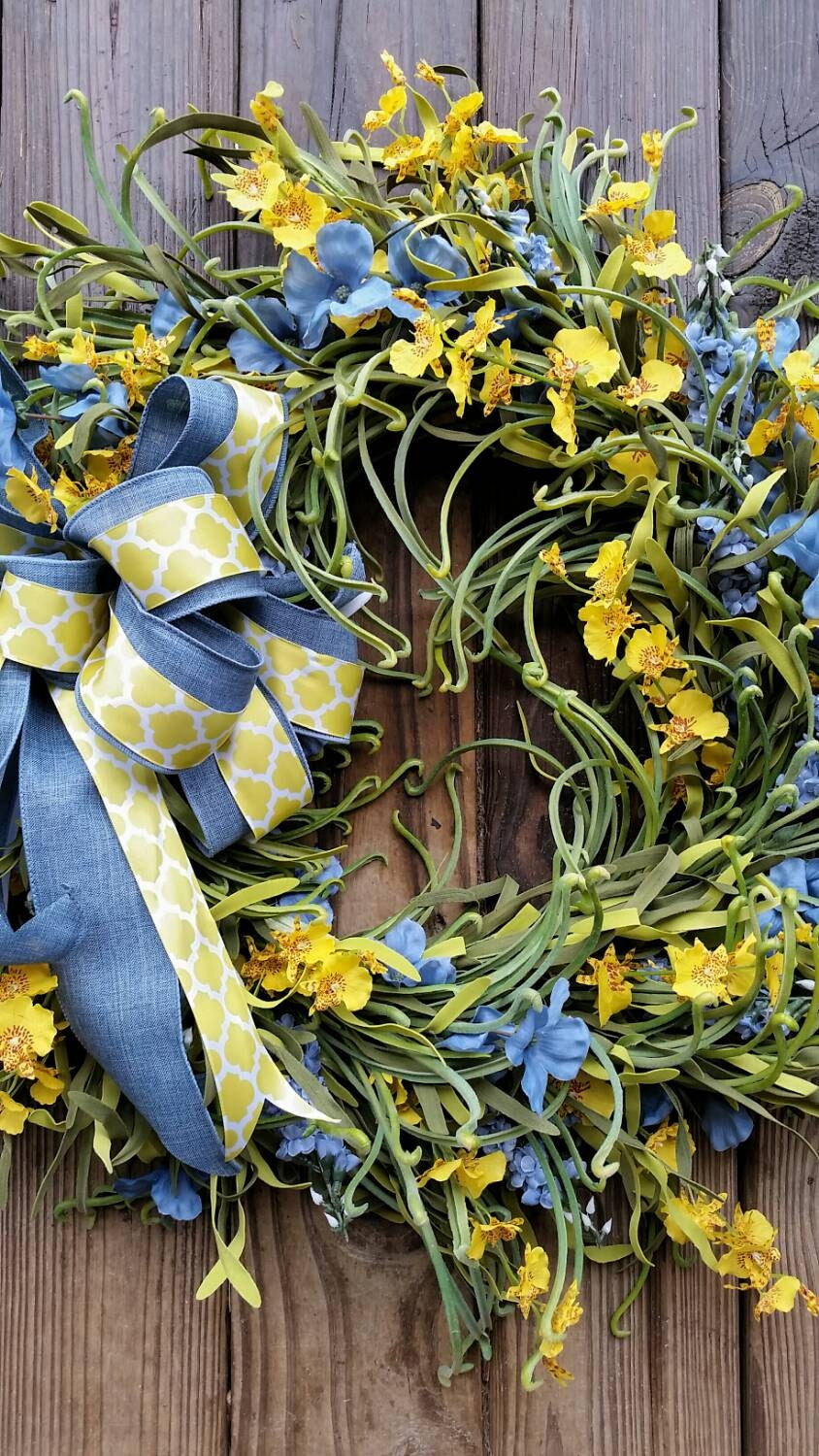 Spring Wreath Summer Wreath Easter Wreath Extra By Dyjodesigns