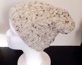 Tweed Cabled Slouchie