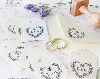 Heart: personalised stamp (3x3 cm)