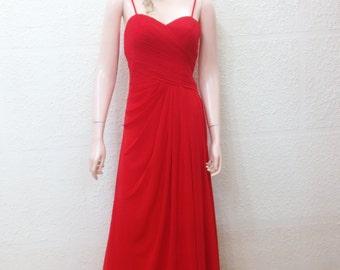 Red Prom Dress. Floor Length Dress. Long Bridesmaid Dress