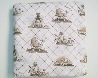 Organic Crib Sheet ~ Baby Toile ~ Ready to Ship, Toile, Crib Sheet, Baby Bedding, Toddler Bedding, Crib Bedding, Toile Crib Sheet, Brown