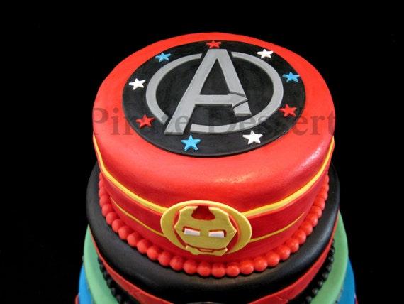 The Avengers Edible Cake Topper Avengers Logo Edible
