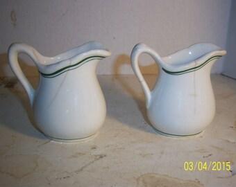 1950's Lot of 2 McNichol China Clarksburg, West Virginia  pottery Restaurant Ware creamers