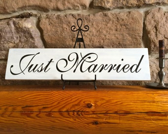 Primitive Rustic Wedding Just Married Sign