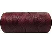 Bracelet Cord - 15 meters/16 yards - Waxed Polyester Cord - Knotting Cord - Burgundy