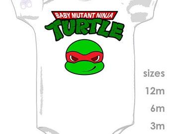 Teenage Baby Mutant Ninja Turtles Cute Onesie