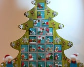 RESERVED Personalized Wooden Christmas Advent Calendar - FOR DEBBIE